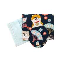 BAR AUTOTECH Japanese Style Cotton Cloth Mask Case Storage Clip - Washable Reusable Cover Mask Organizer Keeper Holder Bag Box (Not Including Mask) (Shiba Inu)