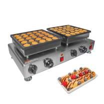 ALDKitchen Poffertje Mini Dutch Pancake Maker | Stainless Steel Electric Poffertjes Machine for 50 Mini Dutch Pancakes | 110V (1.6kW)