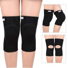 Knee Pads for Dancers Soft Knee Support for Yoga Polo Ballet Volleybal Biking Football Soccer Skating Tennis Thick Sponge Unisex Design Suitable for Kids Youth Adult