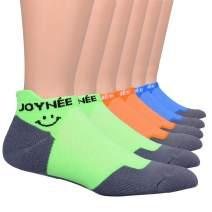 JOYNÉE Ultralight Ankle Athletic Running Socks Low Cut Sports Cushion Socks with Heel Tab for Men and Women