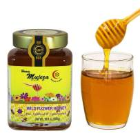 Mujeza Wildflower Honey, Unheated, Unfiltered, Unpasteurized 100% Natural Raw Honey, Non GMO (Wildflower (300g), 1 Jar)