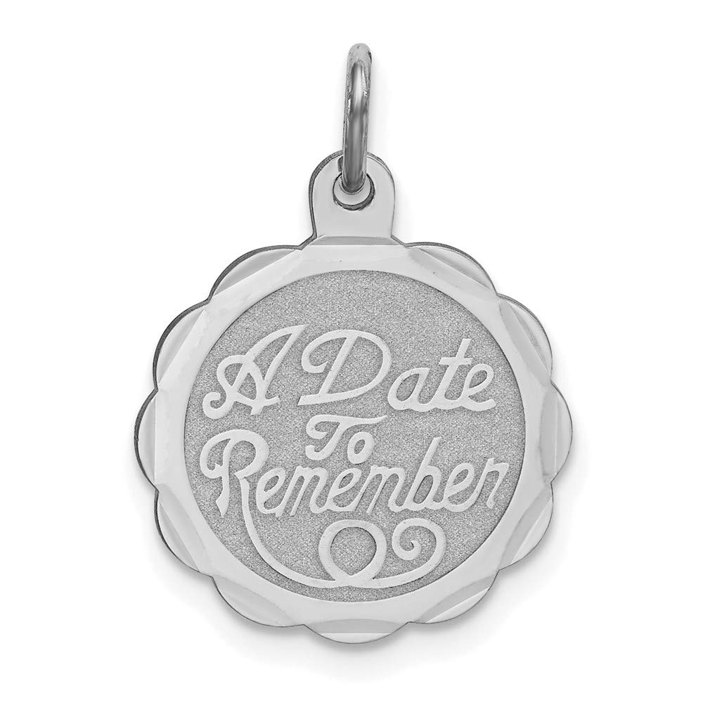 925 Sterling Silver A Date To Remember Disc Pendant Charm Necklace Special Day Fine Jewelry For Women Gifts For Her