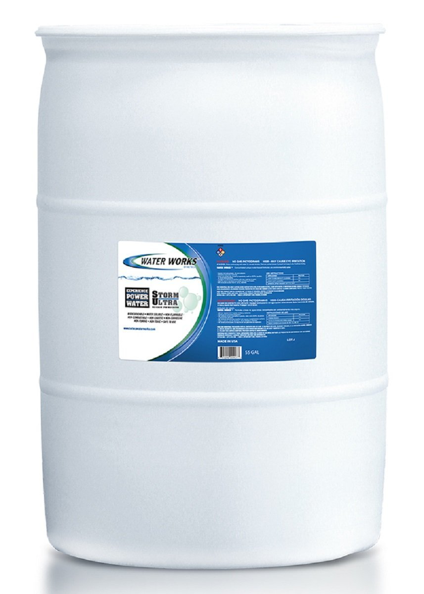 Water Works Storm Ultra Mild Alkaline Spray Wash, 55 Gallon