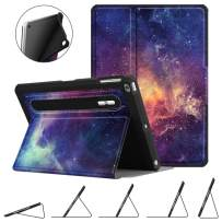 Fintie Case for iPad 9.7 2018 2017 / iPad Air 2 / iPad Air - [Corner Protection] Multi-Angle Viewing Rugged Soft TPU Back Cover w/ [Secure Pencil Holder] Auto Sleep/Wake, Galaxy
