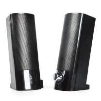 Computer Speakers, Desktop Stereo Line-in Laptop Speaker with AUX Mode Multimedia Speaker,Mini Soundbar Speaker (Black)