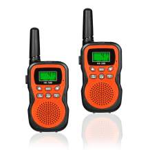JRD&BS WINL Two-Way Radio for Kids Toys for 4-5 Year Old Boys, Long Range Walkie Talkies for Children Outdoor Toys Games Gifts for 3-12 Year Old Boys Girls Birthday Presents Gifts,HK-588 1Pair(Orange)