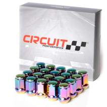 Circuit Performance 12x1.25 Neo-Chrome Closed End Bulge Acorn Lug Nuts Cone Seat Forged Steel (20 Pieces)