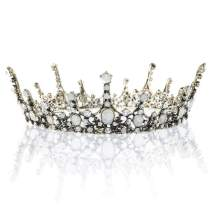 Catery Baroque Tiaras and Crowns Crystal Bride Wedding Queen Crowns Vintage Decorative Princess Tiaras Hair Accessories for Women and Girls