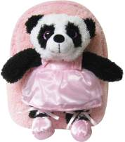 Kreative Kids Adorable Pink Ballet Panda Plush Backpack w/Shiny Eyes and Removable Stuffed Animal