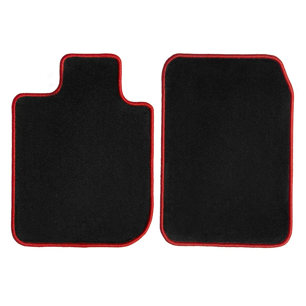 GGBAILEY D2287A-F1A-BLK_BR Custom Fit Car Mats for 2006, 2007, 2008, 2009, 2010, 2011, 2012, 2013 Land Range Rover Sport Black with Red Edging Driver & Passenger Floor