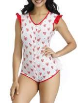 JOYMODE Adult Baby Onesie for Women Diaper Lover (ABDL) Snap Crotch Romper