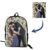 Custom Backpack for Women Men, Cute Personalized Kid's School bag for Girls & Boys