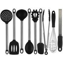 IdealHouse 9 Piece Silicone Kitchen Cooking Utensil Sets Nonstick Kitchen Spatula Set.
