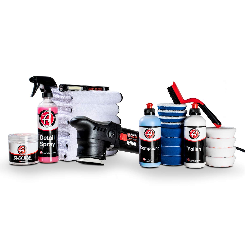 Adam's Swirl Killer 12mm Polisher - Orbital Polishing Paint Correcting Buffer Tool - Car Scratch Remover, Correcting Polish - Use Post Car Wash Clay Bar & Pre Wax or Ceramic Coating (Ultimate Kit)