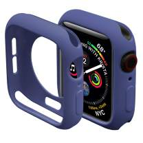 Miimall Compatible Apple Watch Case Series 4 5 6 SE 40mm, Durable Flexible TPU Protective Bumper Cover for Apple Watch Series 6 5 Series 4 40mm case Blue