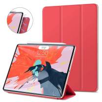 """GOOJODOQ Magnetic Smart Case for The iPad Pro 11"""" 2018-Strong Magnetic Ultra Slim-Support Apple Pencil Charging- Trifold Stand Case,Auto Sleep/Wake Cover for The iPad Pro 11 Inch 2018,Red"""