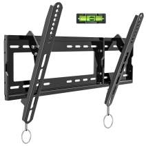 """BLUE STONE Tilt TV Wall Mount Bracket for Most 32-83 Inches LED, LCD, OLED, Plasma Flat Screen, Curved TVs, Max VESA 600x400mm and 165lbs Loading, Low Profile, Fits 16"""",18"""",24""""Studs, with Bubble Level"""