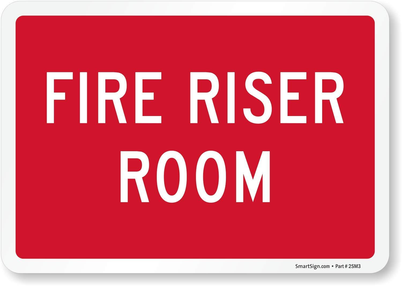 "SmartSign ""Fire Riser Room"" Label   7"" x 10"" Laminated Vinyl"