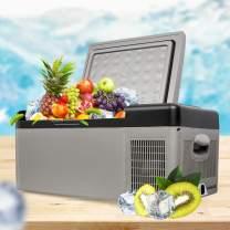 12/24V DC Car Home Refrigerator Freezer, Portable Refrigerator 16 Quart(15 Liter) Vehicle, Car, Truck, RV, Boat, Mini fridge freezer for Driving, Travel, Fishing,Shipping from US