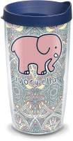 Tervis 1318752 Ivory Ella - Mosiac Print Insulated Tumbler with Wrap and Lid, 16 oz - Tritan, Clear