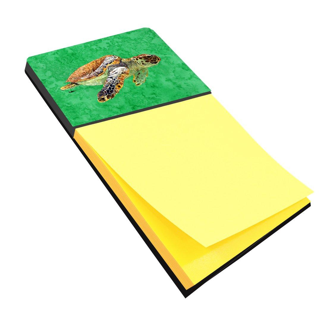 Caroline's Treasures 8675SN Turtle Refiillable Sticky Note Holder or Postit Note Dispenser, Large, Multicolor