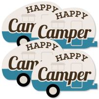 Happy Camper - Decorations DIY Camping Baby Shower or Birthday Party Essentials - Set of 20
