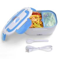 Yescom 1.5L Portable Electric Lunch Box Car Food Warmer Heater Spoon and 2 Container Blue