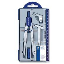 Staedtler Noris Club 550 02 School Compass with Centre Wheel Set with Extension Bar, Universal Adapter and Lead Box