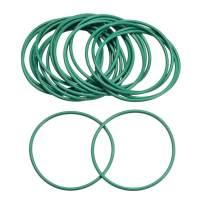 uxcell Fluorine Rubber O Rings, 39mm OD, 36mm Inner Diameter, 1.5mm Width, Seal Gasket Green 20Pcs