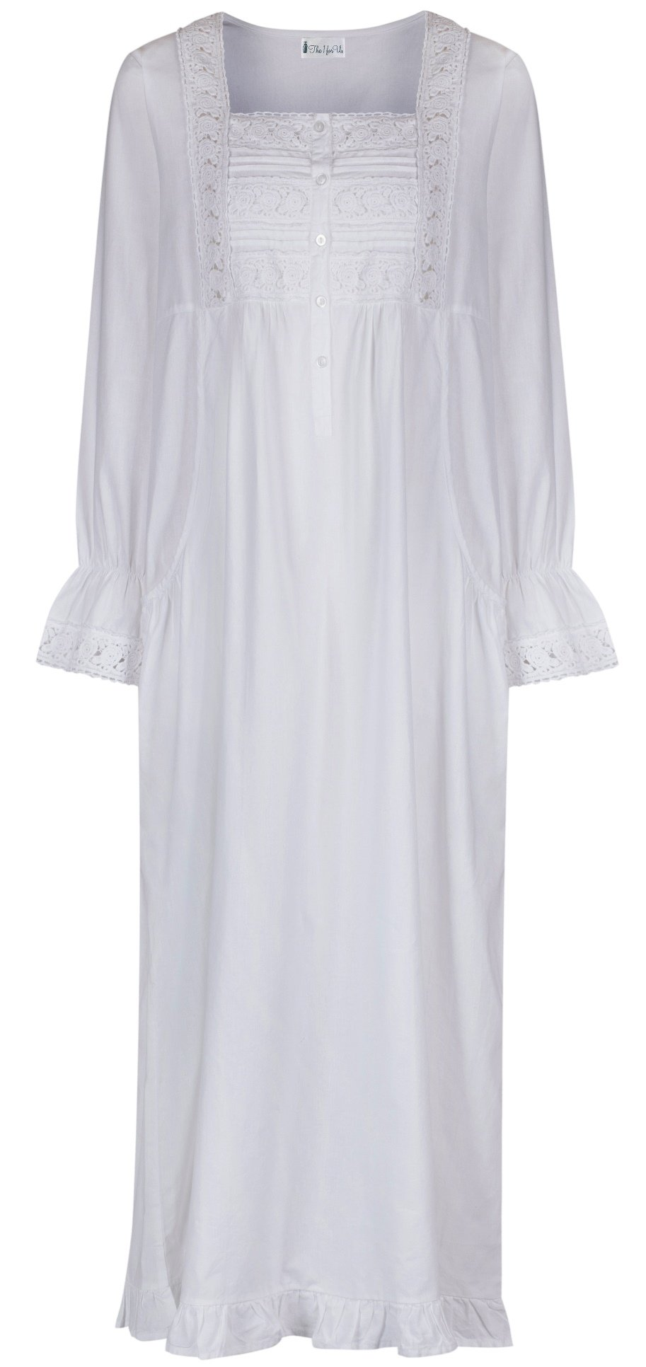 The 1 for U 100% Cotton Nightgown - Gown with Pockets - 7 Sizes - Isabella