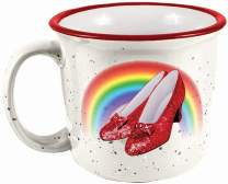 Spoontiques Wizard of Oz Ruby Slippers Camper Mug, 14 ounces, White