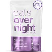 Oats Overnight - Chai Latte (24 Pack) Dairy Free, High Protein, Low Sugar Breakfast with Black Tea - Gluten Free, High Fiber, Non GMOOatmeal(2.6oz per Pack)