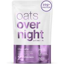Oats Overnight Oatmeal - 16 Pack x 2.6oz, 20g Protein - Chai Latte - 100% Whole Grain, Rolled Oats, Vegan, Dairy-Free, Pea Protein, High Fiber