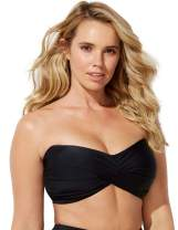 SWIMSUITSFORALL Swimsuits for All Women's Plus Size Ruched Bandeau Bikini Top