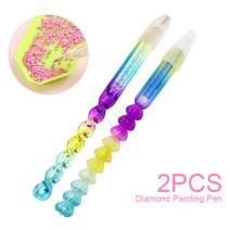 5D Diamond Painting Drill Pens for Full & Partial Drills, Colorful Twist Cirrus and Sweet Heart Sticky Pens, Diamond Painting Accessories Kits Gifts for Adults