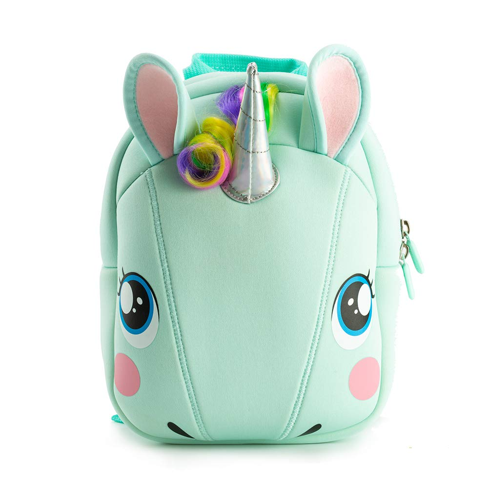 Kiddietotes Unicorn Plush Softcase Backpack for Kids, Toddlers, and Children - Perfect for Daycare, Preschool, Kindergarten, and Elementary School