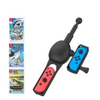 [New Upgrade] FunMax Fishing Rod Hand Grip for Nintendo Switch Joy-con Compatible with Fishing Star World Tour, Legendary Fishing, Bass Pro Shops: The Strike Championship Edition