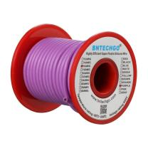 BNTECHGO 16 Gauge Silicone wire spool 25 ft Purple Flexible 16 AWG Stranded Tinned Copper Wire