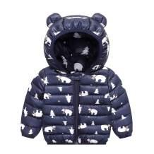 JunNeng Baby Girl Boy Ultralight Winter Hooded Jacket Coat,Kids Toddler Cartoon Puffer Down Outwear