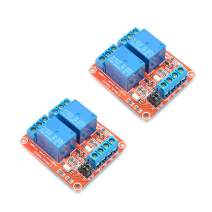 Oiyagai 2pcs 5V 2 Channel High/Low Level Trigger with Optical Isolation Relay Module Fault Tolerant Design Load AC 250V/10A DC 30V/10A Circuit Switch Board