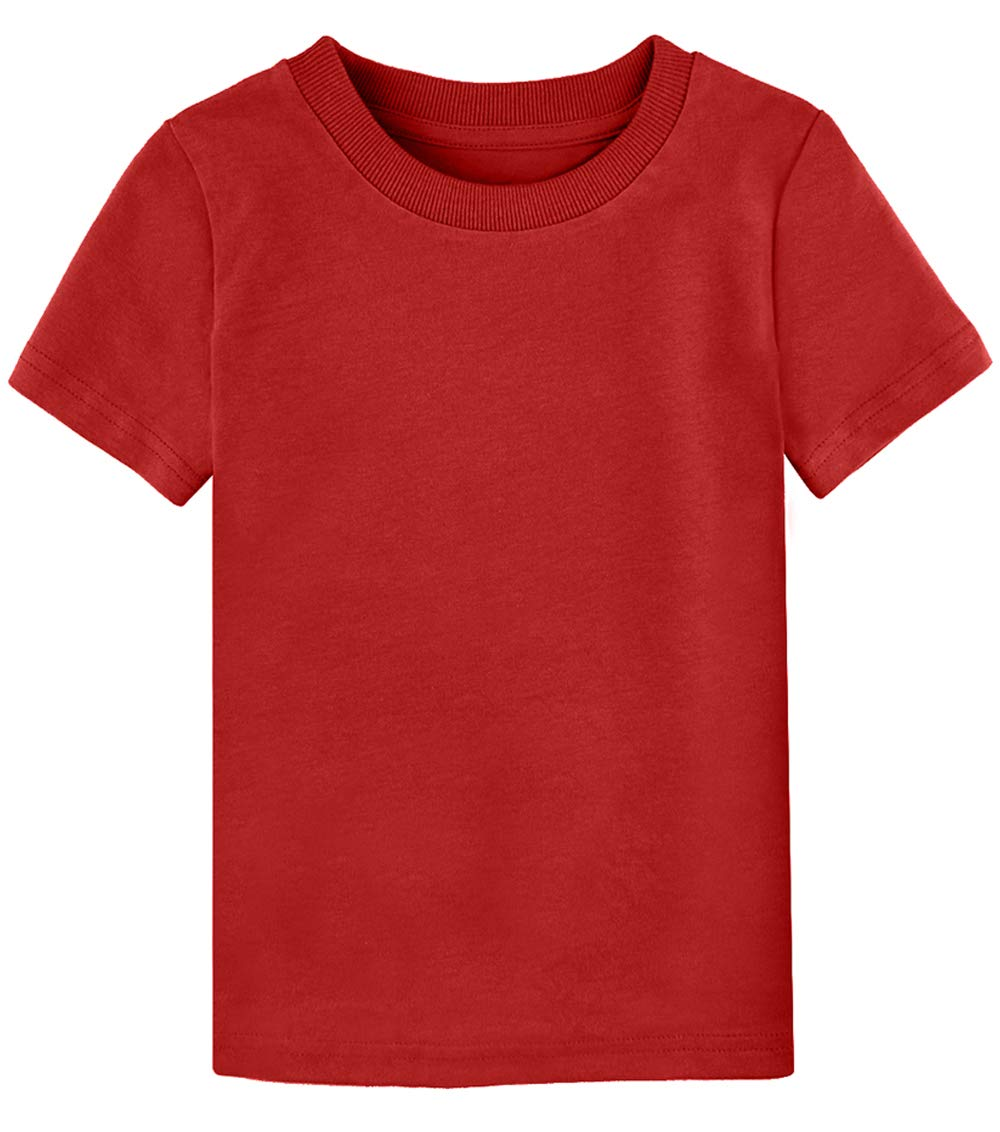 COSLAND Baby & Kids Heavyweight Short Sleeves Solid Color T-Shirt