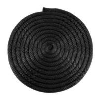 """SGT KNOTS Solid Braid Nylon Utility Rope - Multipurpose Rope for Commercial Applications, Anchors, Crafts (1/8"""" x 50ft, Black)"""