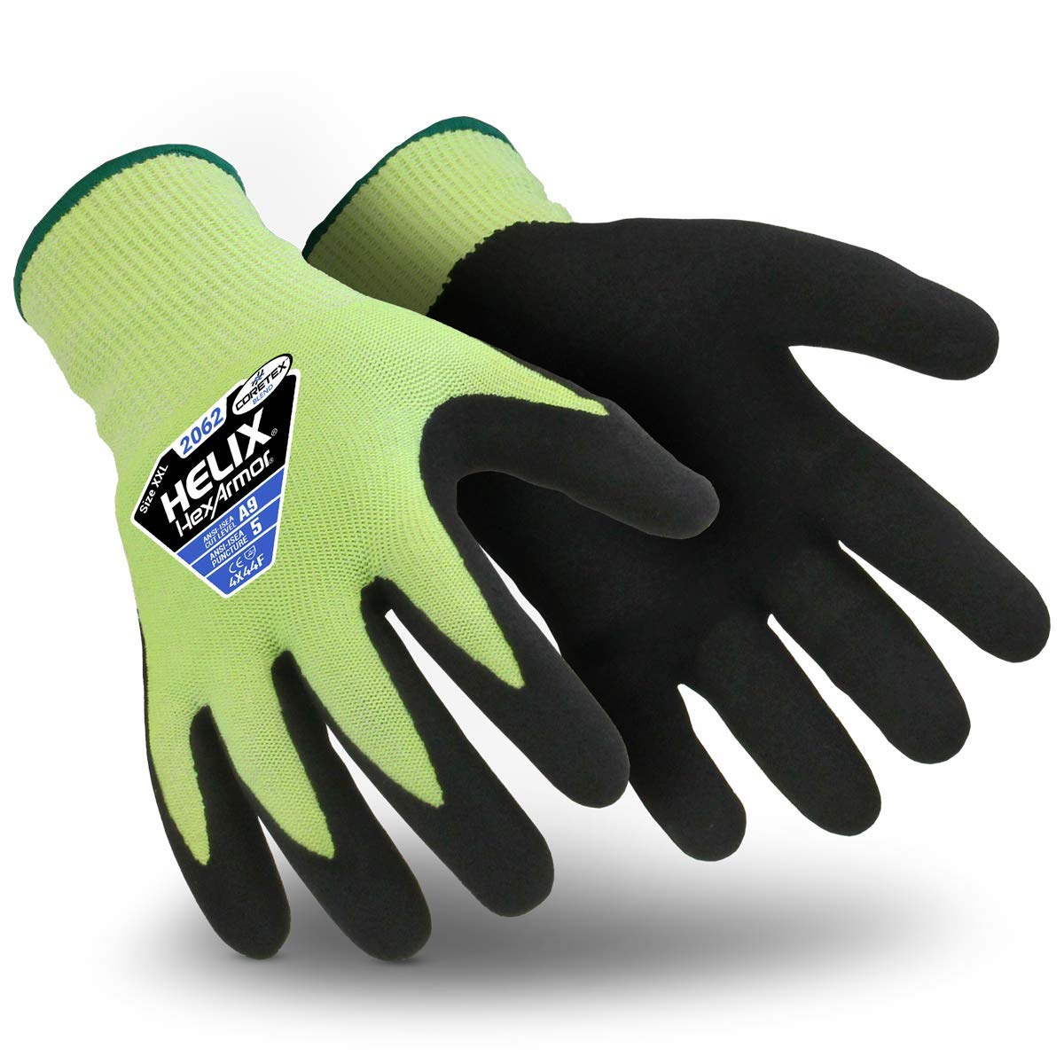HexArmor Helix 2062 Seamless Knit Work Gloves with Nitrile Grip, Large