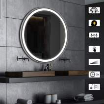 CITYMODA 24 inch Lighted Mirror, Bathroom Wall Mounted Backlit Design with Adjustable Bright and Memory Touch Button, USB Charger Defogger and Waterproof Function Bathroom Vanity Mirror