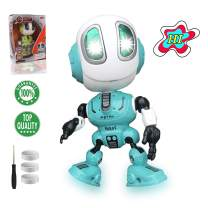 TTOUADY Robot Toys for Kids, Talking Robots Educational Toy for 3 4 5 6+ Year Old Boys Girls, LED Eyes, Interactive Voice and Touch Sensitive Flexible Robots Gift (Blue)