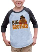 7 ate 9 Apparel Baby Boy's Big Brother Thanksgiving Grey Raglan