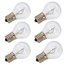 6 Pack S11 E17 Base 40 Watt Bulbs for Lava Lamps,Replacement Bulbs for Lava Lamps,Glitter Lamps