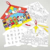 Baker Ross Nativity Advent Calendars Perfect for Xmas Children's Arts, Crafts and Decorating for Boys and Girls (Pack of 3)