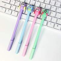 WIN-MARKET Animal Cute Owl Gel Ink Pen Cute Kawaii Black Writing Pens Ballpoint Black Ink Gel Pen Party Gift Gel Ink Pens Funny School Stationery Office Supplies(6PCS)