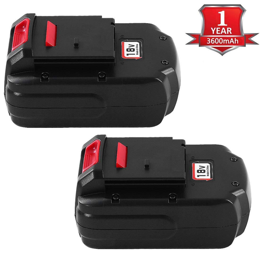 2Pack 3.6Ah PC18B 18 Volt Replacement for Porter Cable 18V Battery PCMVC PC188 PC18B-2 PC18BLEX PCC489N PCXMVC Battery